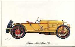 """Marque Hyspano Suiza """" Alfonso """" 1912 - Illustrateur : P. Dumont - (11,5 Cm X 18,5 Cm) - Voitures"""