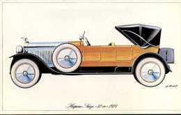 """Marque Hispano Suiza """" 32 Cv """" 1924 - Illustrateur : P. Dumont - (11,5 Cm X 18,5 Cm) - Voitures"""