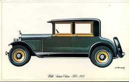 "Marque Wills Sainte-Claire "" W6 "" 1925 - Illustrateur : P. Dumont - (11,5 Cm X 18,5 Cm) - Voitures"