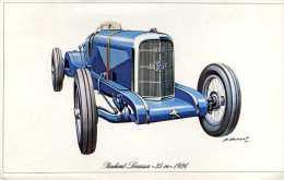 """Marque Panhard Levassor """" 35 Cv """" 1926 - Illustrateur : P. Dumont - (11,5 Cm X 18,5 Cm) - Voitures"""