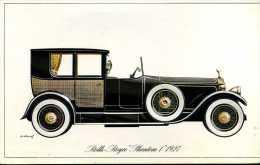 "Marque Rolls Royce "" Phantom 1 "" 1927 - Illustrateur : P. Dumont - (11,5 Cm X 18,5 Cm) - Voitures"