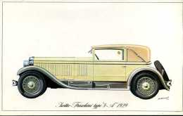 "Marque Isotta - Fraschini Type  "" 8 - A "" 1929 - Illustrateur : P. Dumont - (11,5 Cm X 18,5 Cm) - Voitures"