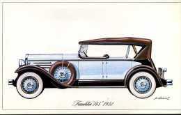 """Marque Franklin  """" 145 """" 1931 - Illustrateur : P. Dumont - (11,5 Cm X 18,5 Cm) - Voitures"""