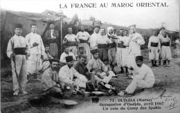 Oudjda : Occupation D´Oudjda, Avril 1907 Un Coin Du Camp Des Spahis - Altri