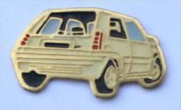 Pin's RENAULT R5 - Couleur Crème - Vue De Dos - C1074 - Badges