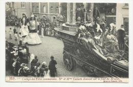 Ath Cortège Des Fêtes Communales Mr Et Mme Goliath Dansant Sur Le Pont Du Moulin (1907) - Ath