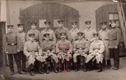 Photocarte Allemande- Groupe MILITAIRES (SABRE) Pose Photo (guerre De 14-18) - Guerre 1914-18