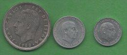 Espagne Spain Espagna 50 Pesetas 1980 10 Centimos 1959 50 Cts 1966 - Espagne