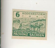 Provinz Sachsen  V. 1945   Bodenreform   -  6,12 Pfennig   (205+06) - Zone Soviétique