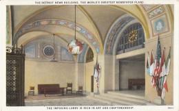 C1940 THE DETROIT NEW BUILDING THE WORLD'S GREATEST NEWSPAPER PLANT - Detroit