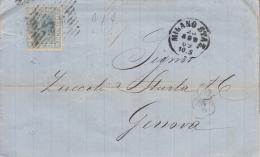 STORIA POSTALE BUSTA POSTALE  25/AGO/1869 - Post