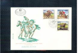Yugoslawien / Yugoslavia / Yougoslavie 1988 Horse Racing FDC - Reitsport