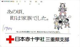 Telecarte Japon * Croix Rouge (1704) PHONECARD JAPAN *  Red Cross * TELEFONKARTE * ROTES KREUZ * CROCE ROSSA - Publicidad