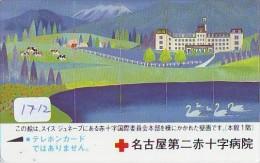Telecarte Japon * Croix Rouge (1712) PHONECARD JAPAN *  Red Cross * TELEFONKARTE * ROTES KREUZ * CROCE ROSSA  RODE KRUIS - Reclame