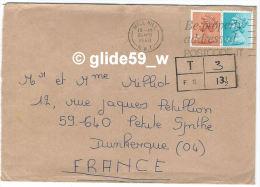 Enveloppe Adressée De Londres à Mr Et Mme MILLIOT à Petite-Synthe Dunkerque (1980) - Vieux Papiers