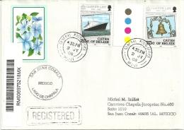 Lettre Recommandée De Belize Adressée Au Mexique - Belize (1973-...)