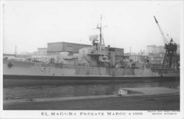 Frégate Marocain EL MAOUNA Ex LA SURPRISE - Carte Photo éd. Marius Bar - Bateau/ship/schiff - Guerra