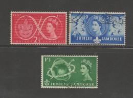UK 1957 Used Stamp(s) Scouting Nrs. 299-301 - 1952-.... (Elizabeth II)