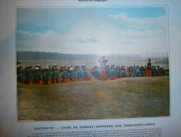IMAGE   L INFANTERIE  SERVICE EN CAMPAGNE   DEFENSIVE  LIGNE DE COMBAT DERRIERE LES TRANCHEES ABRIS - Militaria