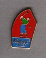 Pin´s   Sport  GOLF   KLEENEX  CLUB - Golf