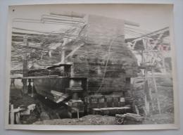 CHANTIER DE LA C C E E GRAND  QUEVILLY OCTOBRE 1936 DESCENTE SUR VERRIN DE LA POUTRE SOUS VOIE COTE SEINE 1936 - Places