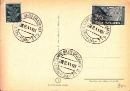 STORIA POSTALE CARTOLINA POSTALE -27/8/1941 POSTA NAZIONALE GRADUATI G.I.L. ROMA - Post