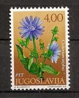 Jugoslawien 1971, Nr. 1424, Blumen Wegwarte (Cichorium Intybus) Postfrisch (mnh) - 1945-1992 Sozialistische Föderative Republik Jugoslawien