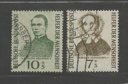 GERMANY 1955 Used Stamp(s) Welfare Nr. 223=225 2 Values Only - [7] Federal Republic