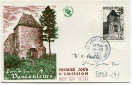 CARTE MAXIMUM PORTE DE FRANCE VAUCOULEURS OBLITERATION DERNIER JOUR DU TIMBRE 25-10-1952 - France