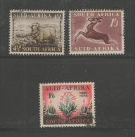 SOUTH AFRICA UNION 1953 Used Stamps Definitive Issue  Nrs. 234-236 - South Africa (...-1961)
