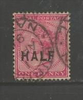 SOUTH AFRICA NATAL 1895 Used  Stamp  Queen Victoria  1d Overprint HALF 108 - Zuid-Afrika (...-1961)