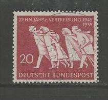 GERMANY 1955 Used Stamp(s) 10 Years Refugees Nr. 215 - [7] Federal Republic