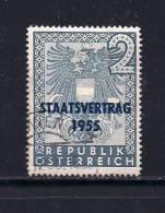 AUSTRIA 1955 Used Stamp(s) Austrian State Treaty Nr. 1017 - 1945-.... 2nd Republic