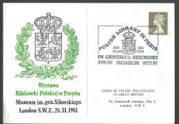 1981. POLISH LIRARY IN PARIS EXHIBITION / SIKORSKI MUSEUM EXHIBITION. LONDON - 1939-44: World War Two