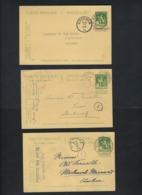 18 Postkaarten Van Nr. 110 Met Enkele ZELDZAME Afstempelingen ; Staat Zie 6 Scans ! Inzet 10 Euro ! LOT 166 - WW I