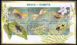 GHANA   2337  MINT NEVER HINGED MINI SHEET OF BUTTERFLIES-INSECTS - Butterflies