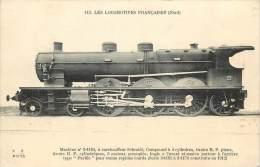 Réf : VP 2-13-284  : Machine N° 3-1154 Chemin De Fer Locomotive Fleury - Trains
