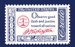 United States Postal Stamp Issue The Washington Credo - Stamps (pictures)