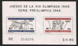 Mexico - Block 5 Postfrisch / MNH ** (n878) - Zomer 1968: Mexico-City