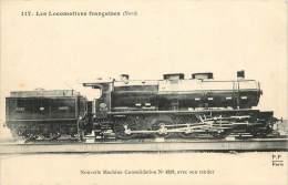 Réf : VP 2-13-287  : Machine N° 4259 Chemin De Fer Locomotive Fleury - Trains
