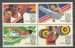 BL2-20 UNITED STATES 1983 MI 1622-1625st SPORT, OLYMPICS LOS ANGELES 1984, TURNEN, SWIMMING. MNH, POSTFRIS, NEUF**. - Zomer 1984: Los Angeles