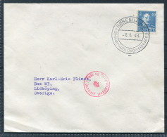 1943 Denmark 40 Ore  Censor First Day Cover - Sweden - Covers & Documents