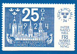 Stamps Of Sweden 1974 Stockholm Issue - Stamps (pictures)