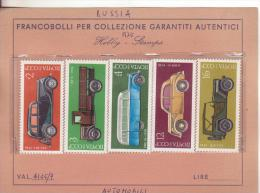 Francobolli Tema: Trasporti-Automobili-Transport -cars-voitures-samochody-Russia-URSS-Russie-1975-Yvert 4145/9-Nuovi-New - Voitures