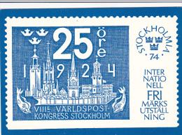 Stamps Of Sweden 1974 Stockholm Issue