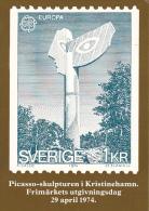 Stamps Of Sweden 1974 Picaso Sculpture At Kristinehamn Issue - Sellos (representaciones)