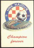 SOCCER FOOTBALL STADIUM PC#47 HAJDUK SPLIT CROATIA - Calcio