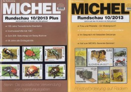 MICHEL Briefmarken Rundschau 10/2013 Und 10/2013 Plus Neu 10€ New Stamps Of The World Catalogue And Magacine Of Germany - Documentos Antiguos