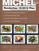 MICHEL Briefmarken Rundschau 10/2013 Plus Neu 5€ New Stamps World Catalogue And Magacine Of Germany ISBN 4 194371 105009 - Oude Documenten