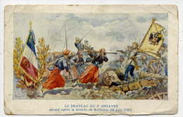 Régiment 2° Zouaves--Le Drapeau Du 2° Zouaves Décoré Après La Bataille De Solférino (Napoléon III) - Regimientos